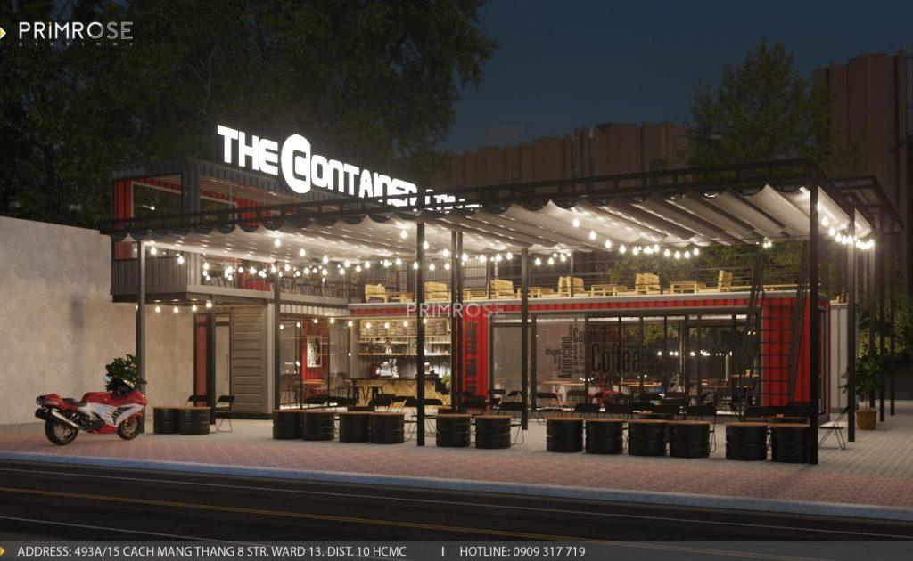 The Container Cafe - Quán cafe độc đáo kết hợp mô hình container và sân vườn thiet ke quan cafe container dep 1