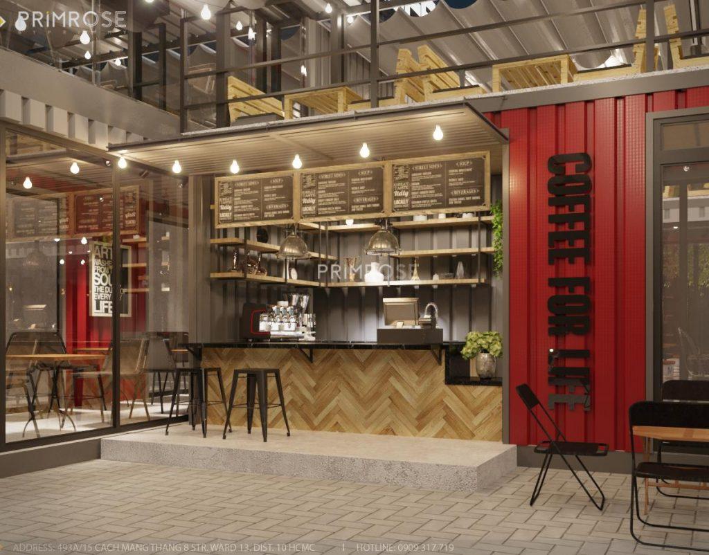 The Container Cafe - Quán cafe độc đáo kết hợp mô hình container và sân vườn thiet ke quan cafe container dep 2