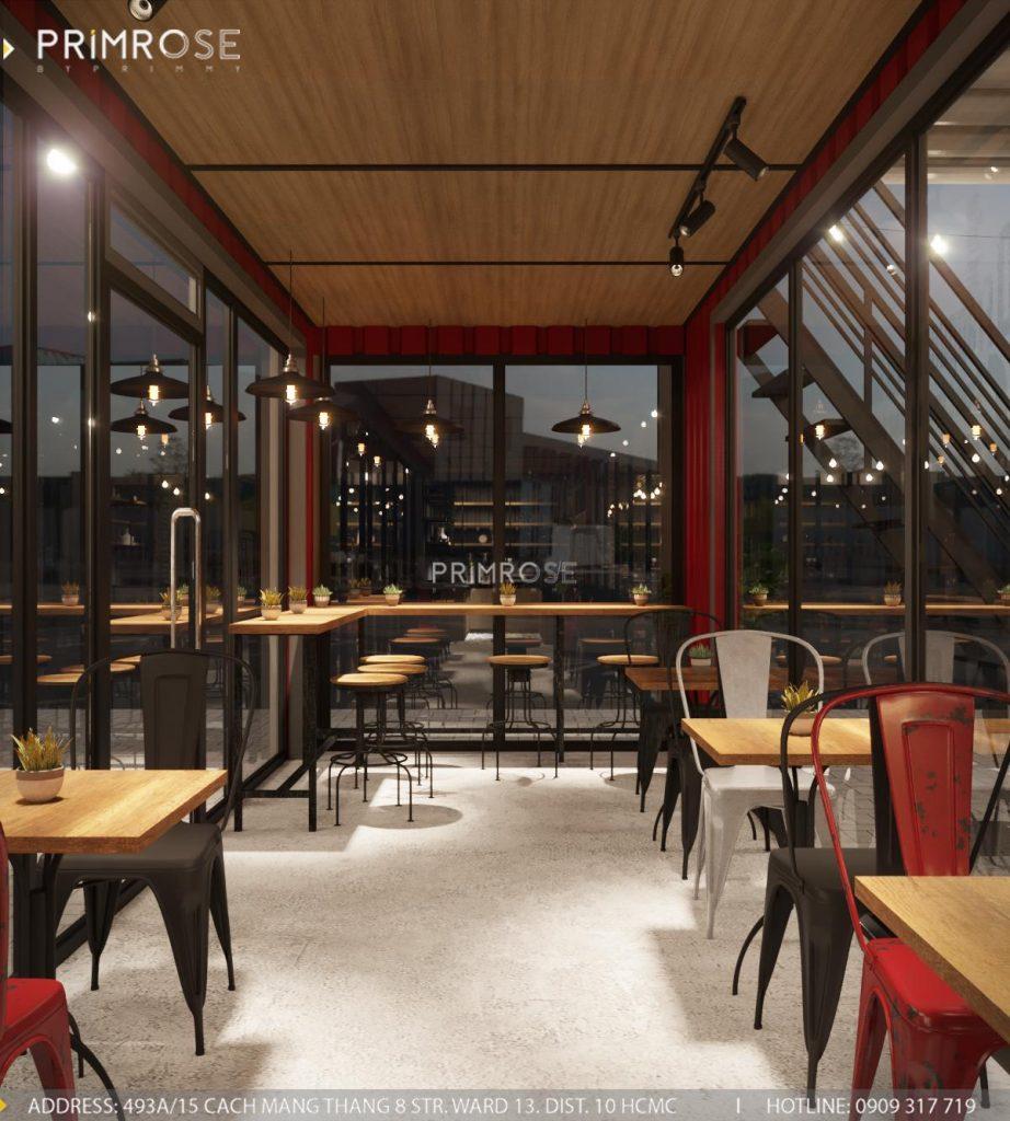 The Container Cafe - Quán cafe độc đáo kết hợp mô hình container và sân vườn thiet ke quan cafe container dep 3