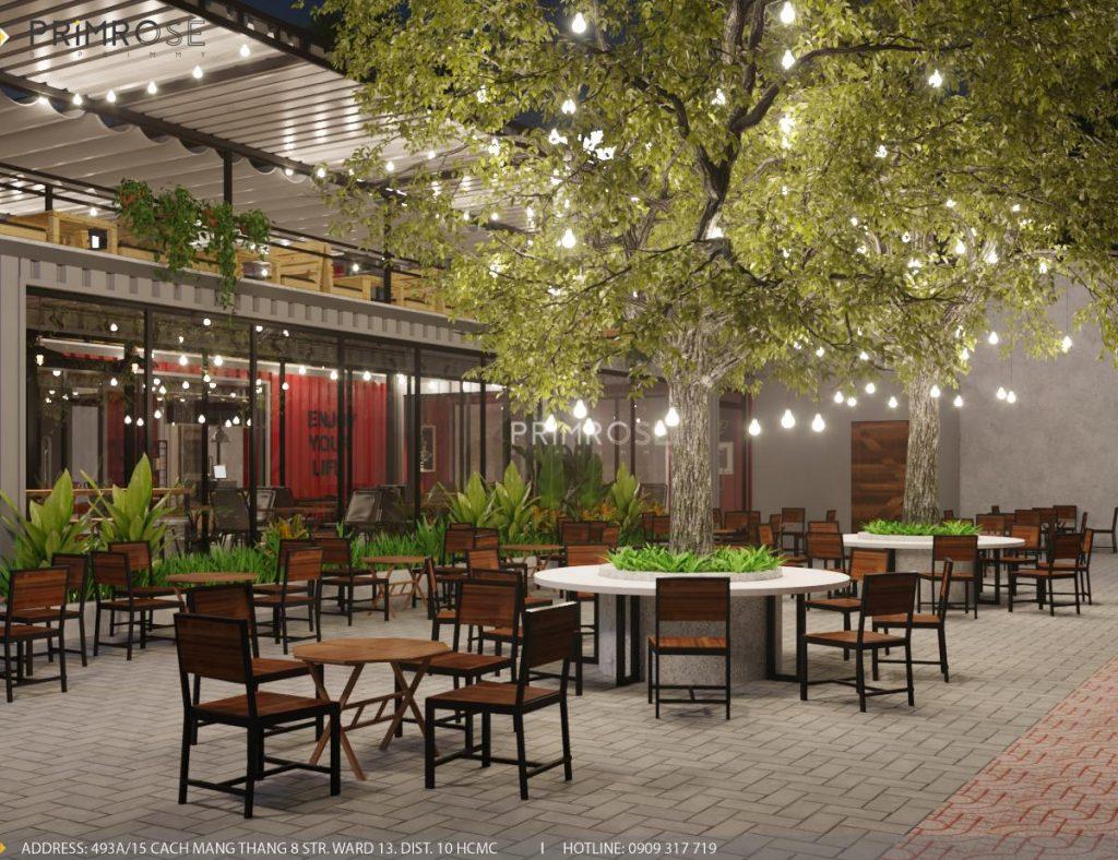 The Container Cafe - Quán cafe độc đáo kết hợp mô hình container và sân vườn thiet ke quan cafe container dep 4