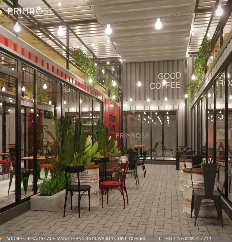 The Container Cafe - Quán cafe độc đáo kết hợp mô hình container và sân vườn thiet ke quan cafe container dep 6