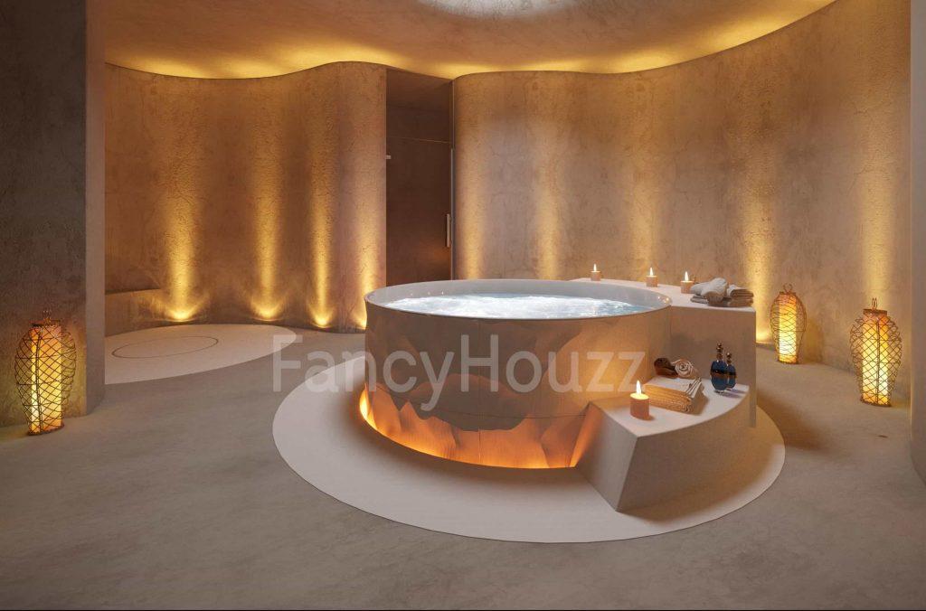 Thiết kế spa phong cách hiện đại bắt kịp xu hướng mới Fancy Houzz Beauty salon and Spa interior design 1