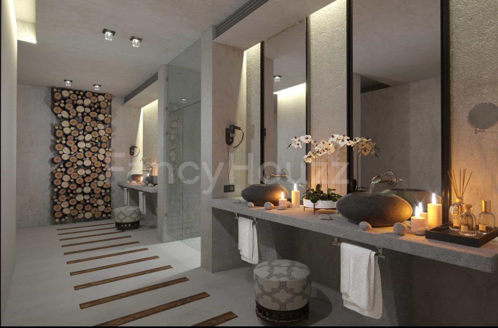 Thiết kế spa phong cách hiện đại bắt kịp xu hướng mới Fancy Houzz Beauty salon design 1 1024x676 1