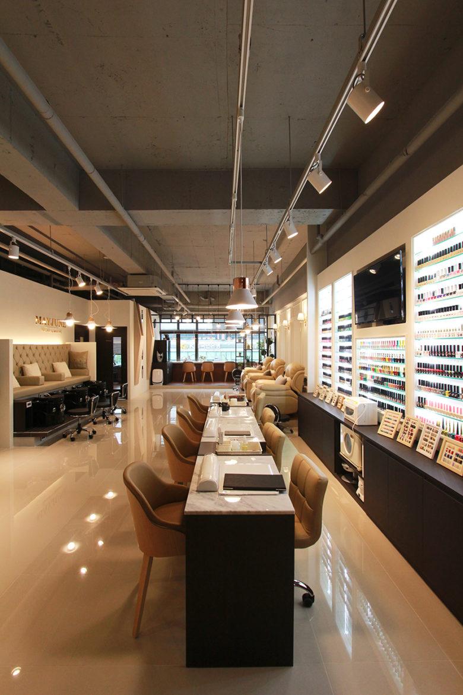 Chiêm ngưỡng không gian Nail cao cấp tại Hàn Quốc mau thiet ke salo nail dep 16