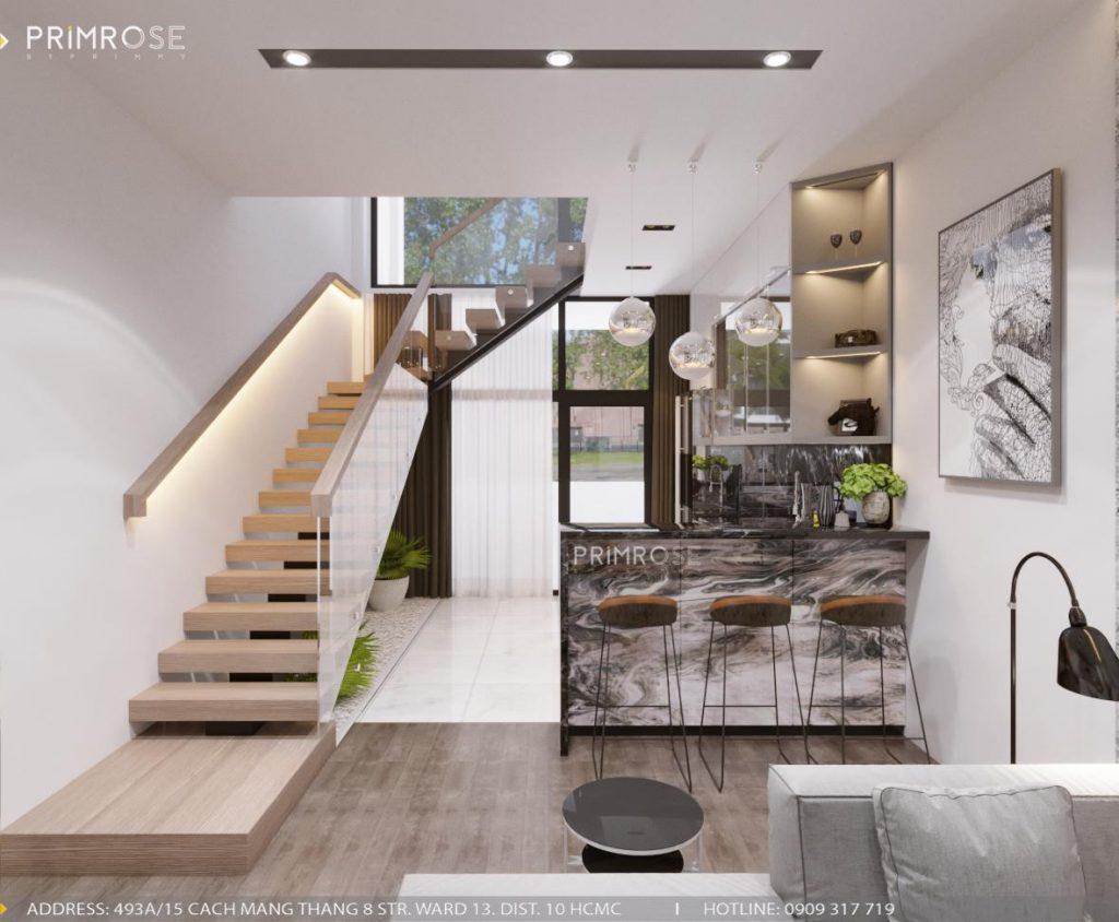 Thiết kế nội thất nhà phố phong cách hiện đại sang trọng thiet ke noi that nha pho 2