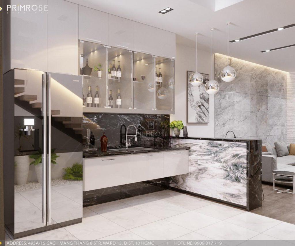 Thiết kế nội thất nhà phố phong cách hiện đại sang trọng thiet ke noi that nha pho 3