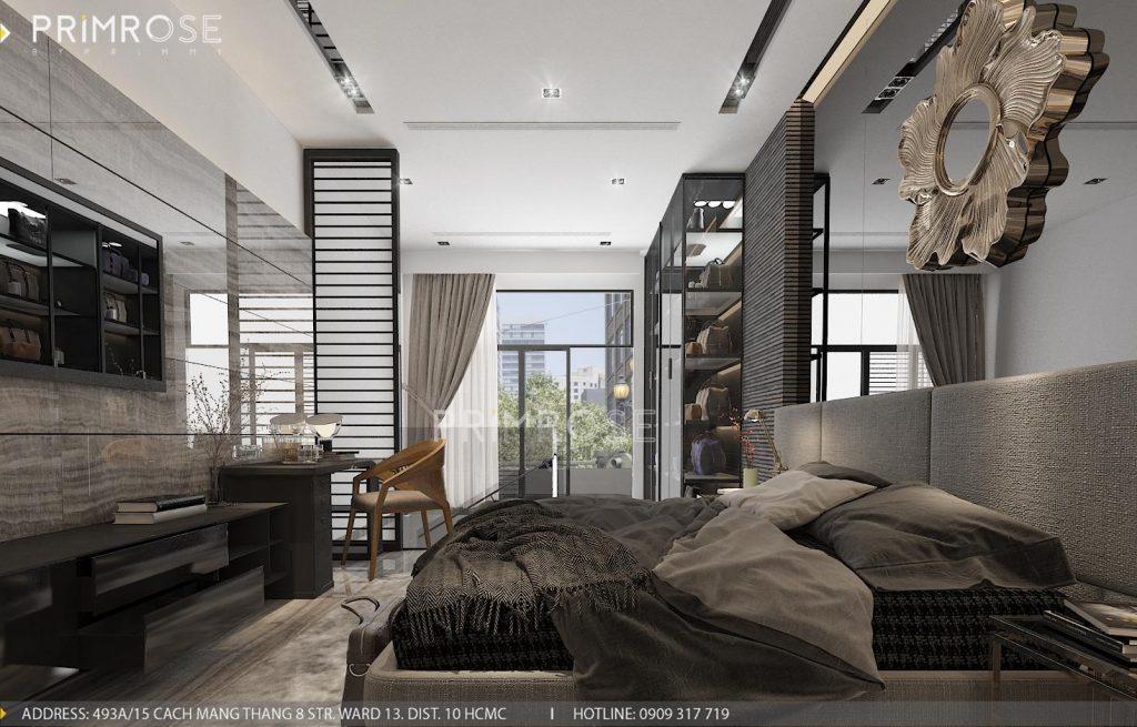 Thiết kế nội thất nhà phố hiện đại thiet ke noi that nha pho 1