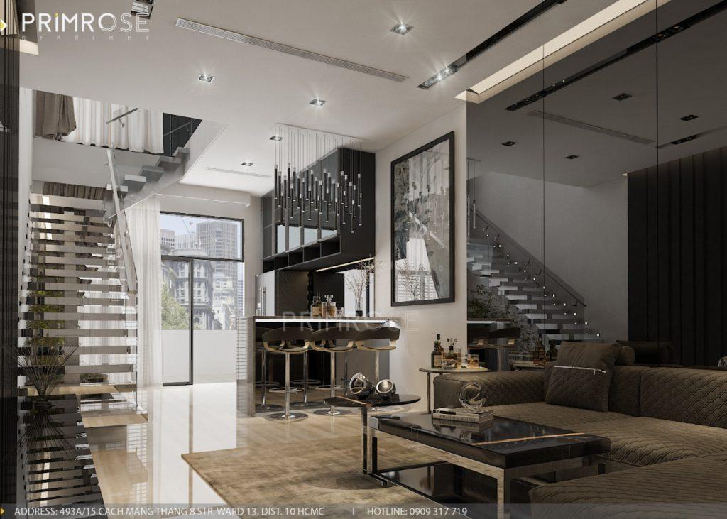 Thiết kế nội thất nhà phố hiện đại thiet ke noi that nha pho 10