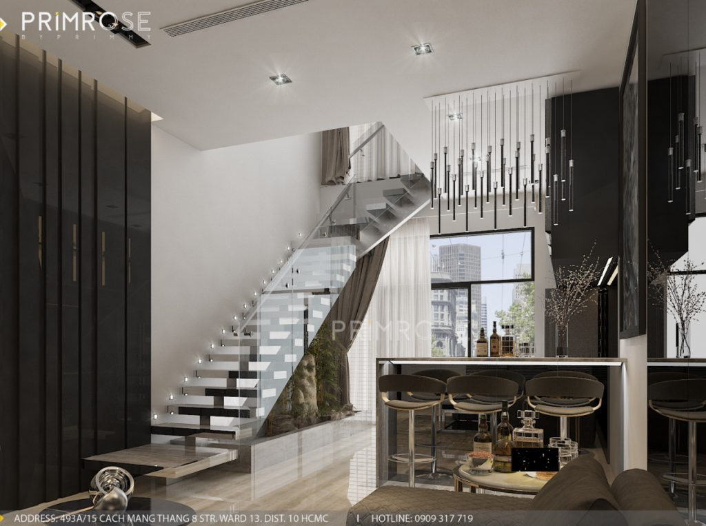 Thiết kế nội thất nhà phố hiện đại thiet ke noi that nha pho 11