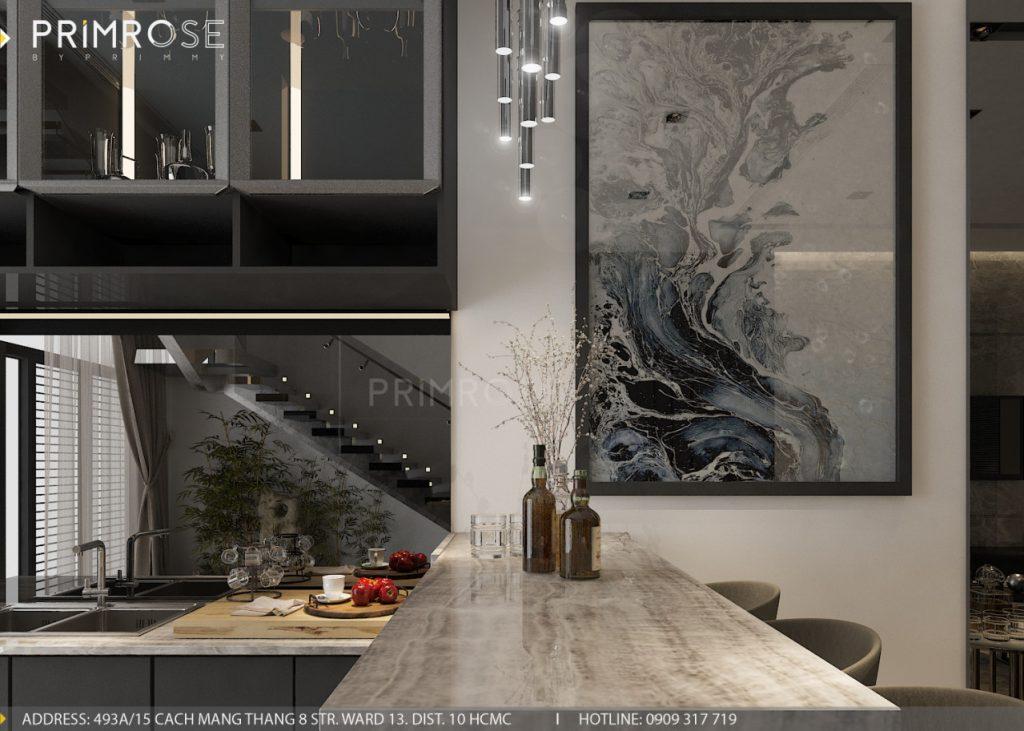 Thiết kế nội thất nhà phố hiện đại thiet ke noi that nha pho 13