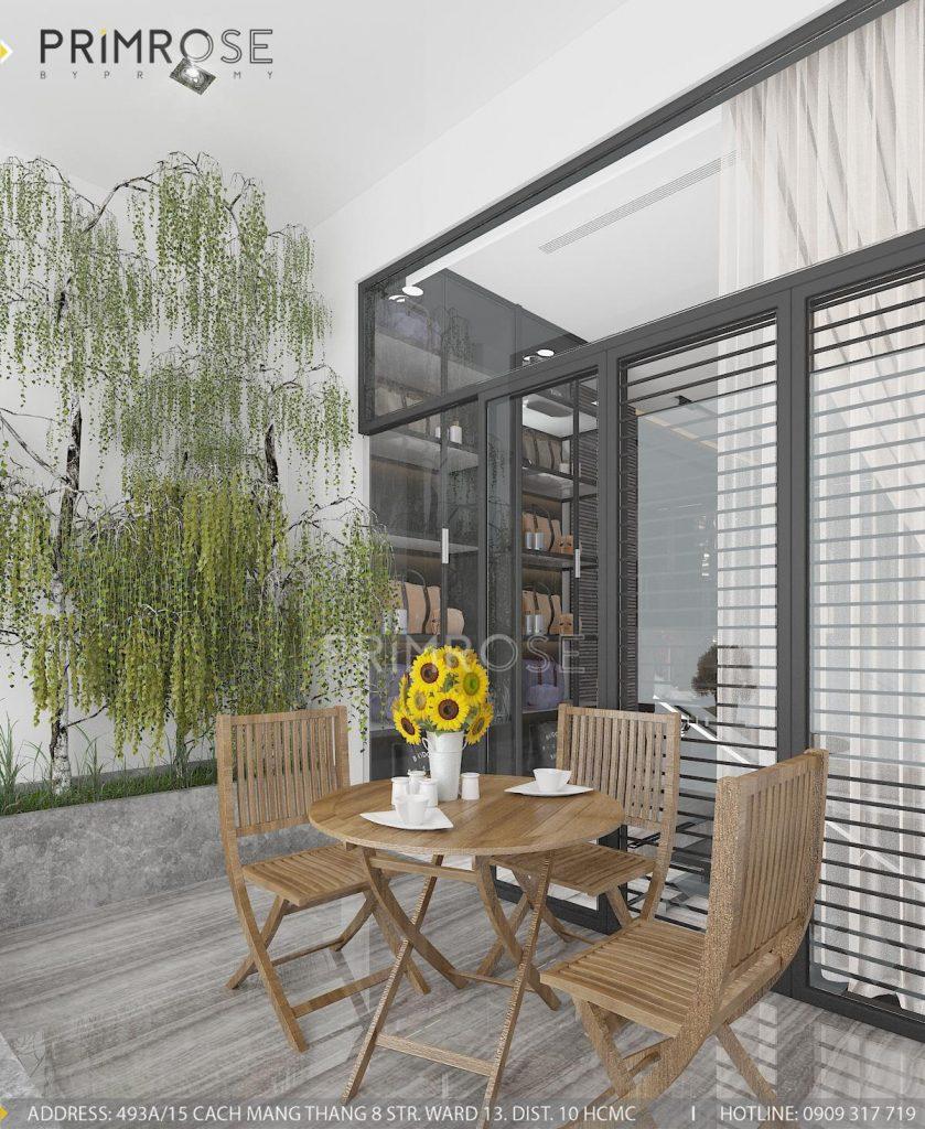 Thiết kế nội thất nhà phố hiện đại thiet ke noi that nha pho 7