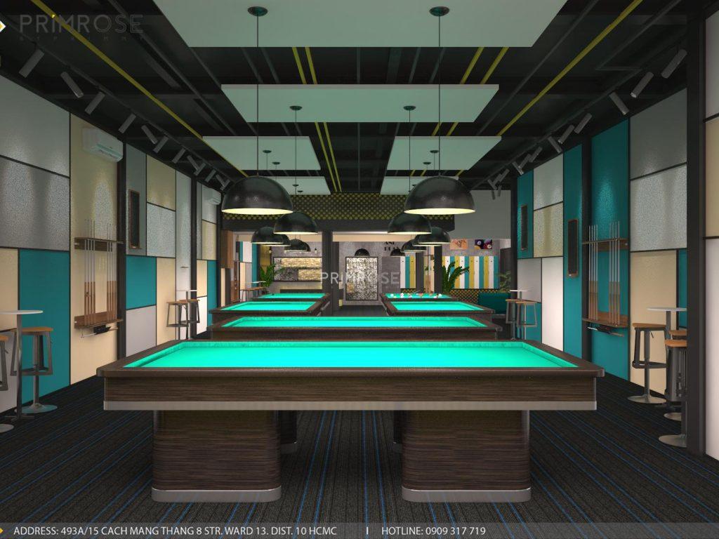 Thiết kế nội thất câu lạc bộ bida 44 - Nguyễn Đình Chiểu, Quận 3 thiet ke noi that quan bida 1