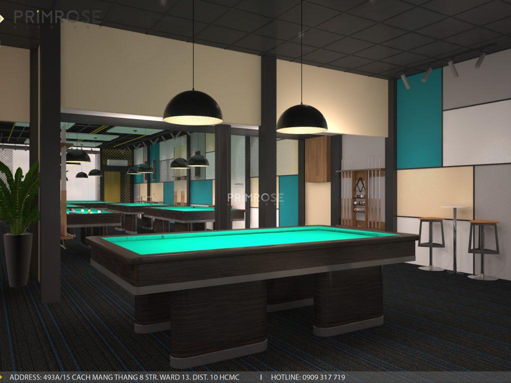 Thiết kế nội thất câu lạc bộ bida 44 - Nguyễn Đình Chiểu, Quận 3 thiet ke noi that quan bida 2