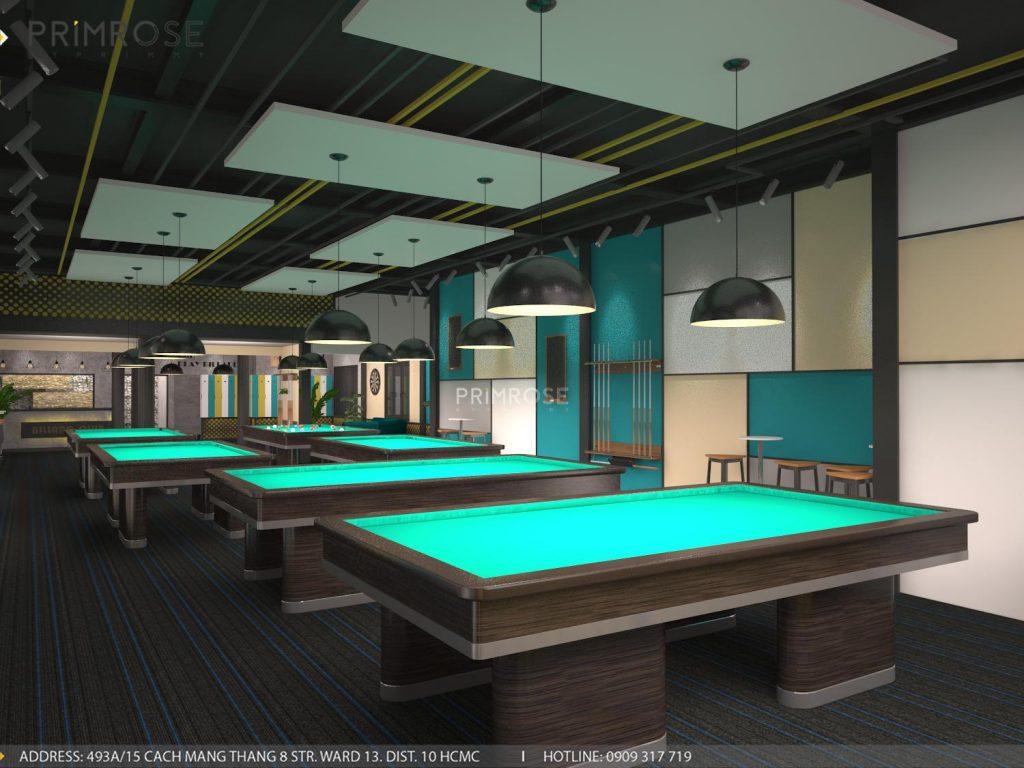 Thiết kế nội thất câu lạc bộ bida 44 - Nguyễn Đình Chiểu, Quận 3 thiet ke noi that quan bida 6