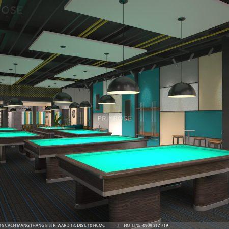 Thiết kế nội thất câu lạc bộ bida 44 – Nguyễn Đình Chiểu, Quận 3