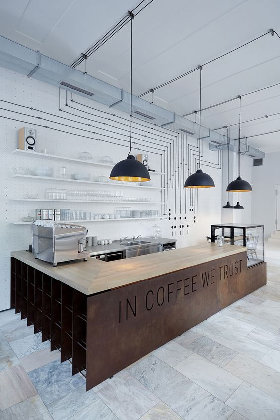 Phong cách công nghiệp trong thiết kế nội thất quán cafe thiet ke thi cong noi that quan cong nghiep 2