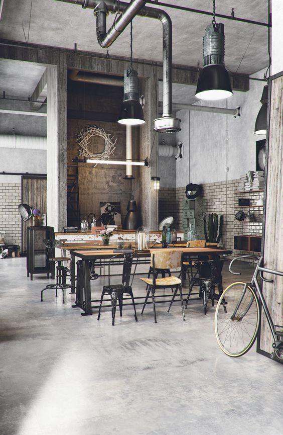 Phong cách công nghiệp trong thiết kế nội thất quán cafe thiet ke thi cong noi that quan cong nghiep 3