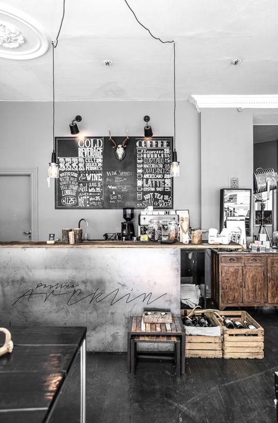 Phong cách công nghiệp trong thiết kế nội thất quán cafe thiet ke thi cong noi that quan cong nghiep 4