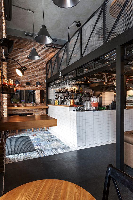 Phong cách công nghiệp trong thiết kế nội thất quán cafe thiet ke thi cong noi that quan cong nghiep 7