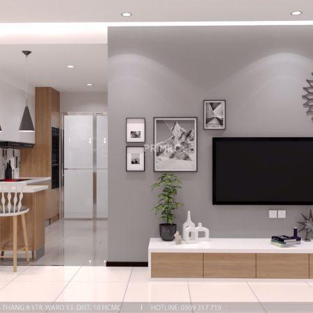 Thiết kế căn hộ Everrich theo phong cách hiện đại