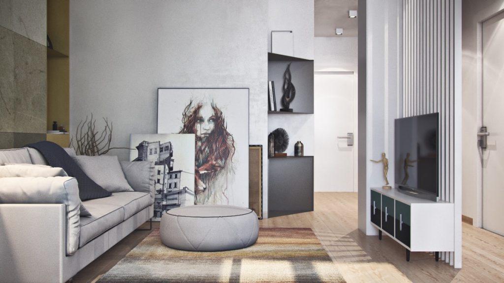 Thiết kế thi công nội thất chung cư hiện đại thiet ke can ho hien dai 2