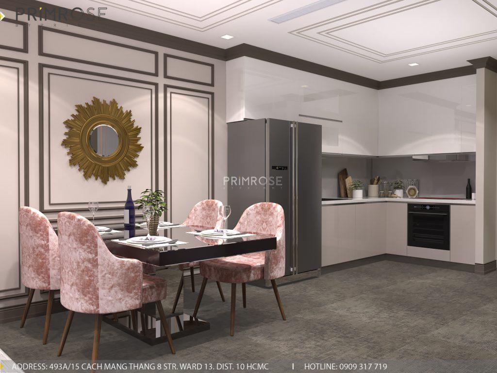 Thiết kế nội thất Tân Cổ Điển căn hộ Landmark 81 Vinhomes Central Park thiet ke can ho tan co dien 2