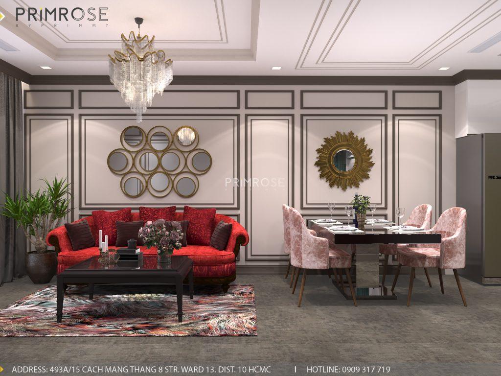 Thiết kế nội thất Tân Cổ Điển căn hộ Landmark 81 Vinhomes Central Park thiet ke can ho tan co dien 3