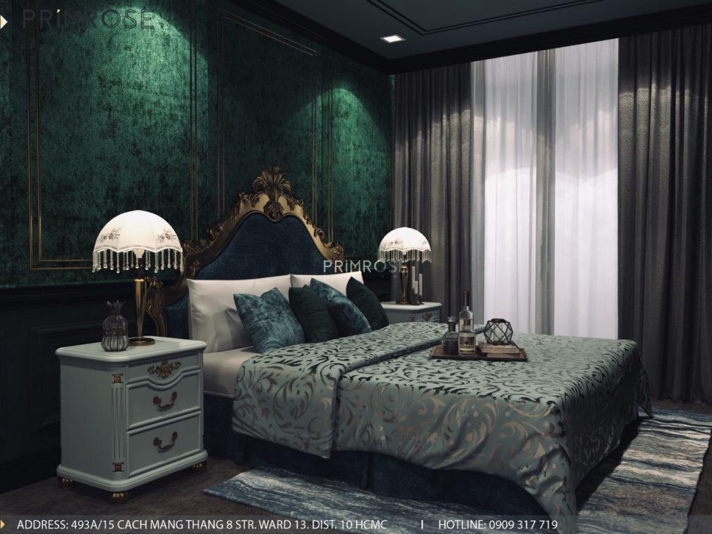 Thiết kế nội thất Tân Cổ Điển căn hộ Landmark 81 Vinhomes Central Park thiet ke can ho tan co dien 4