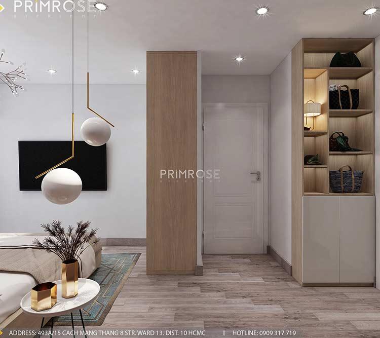 Thiết kế nội thất căn hộ Sunrise Riverside với 2 phòng ngủ thiet ke noi that can ho 65m2 phong cach hien dai 10