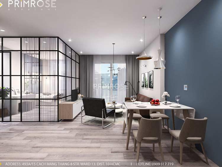 Thiết kế nội thất căn hộ Sunrise Riverside với 2 phòng ngủ thiet ke noi that can ho 65m2 phong cach hien dai 2