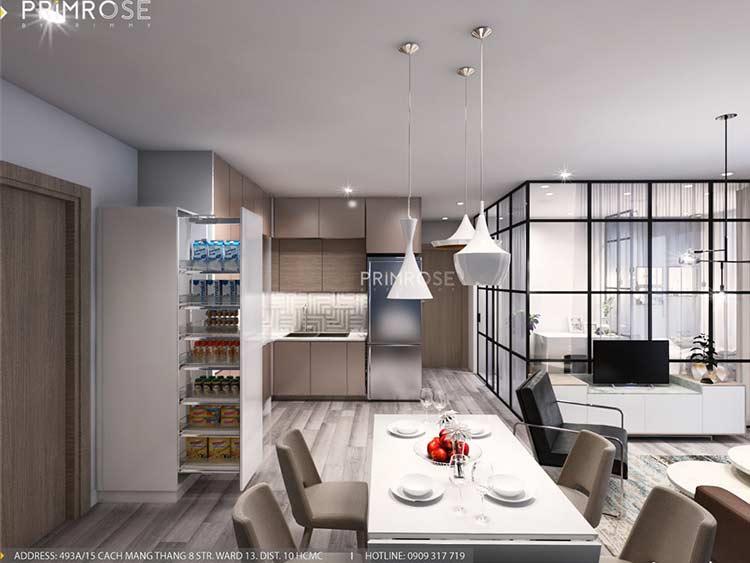 Thiết kế nội thất căn hộ Sunrise Riverside với 2 phòng ngủ thiet ke noi that can ho 65m2 phong cach hien dai 3