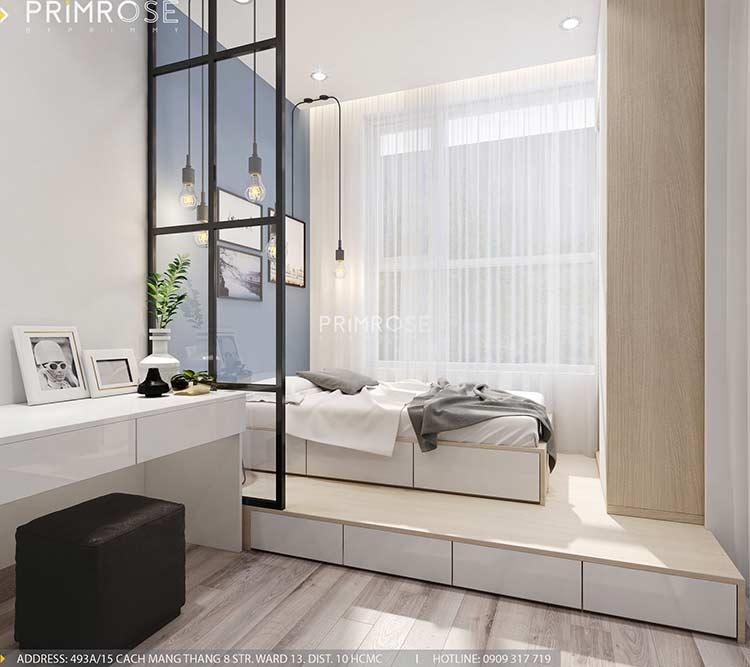 Thiết kế nội thất căn hộ Sunrise Riverside với 2 phòng ngủ thiet ke noi that can ho 65m2 phong cach hien dai 5