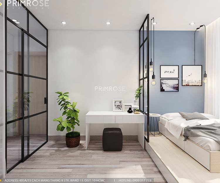 Thiết kế nội thất căn hộ Sunrise Riverside với 2 phòng ngủ thiet ke noi that can ho 65m2 phong cach hien dai 6