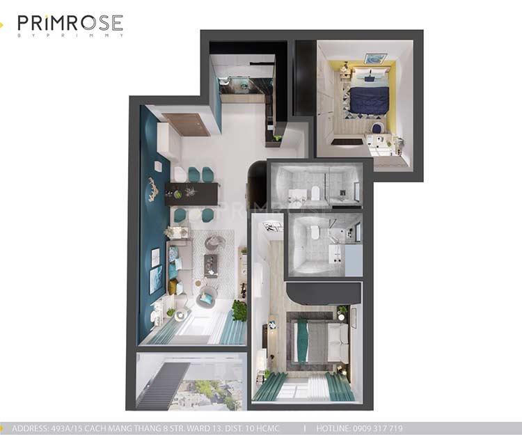 Căn hộ Everrich An Dương Vương 73m², thiết kế 2 phòng ngủ thiet ke noi that can ho hien dai dep 16
