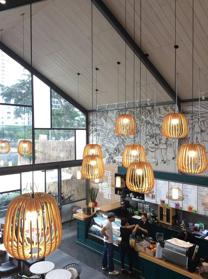 LALA Coffee&Tea - Ốc đảo xanh giữa lòng thành phố thiet ke thi cong quan cafe dep 21