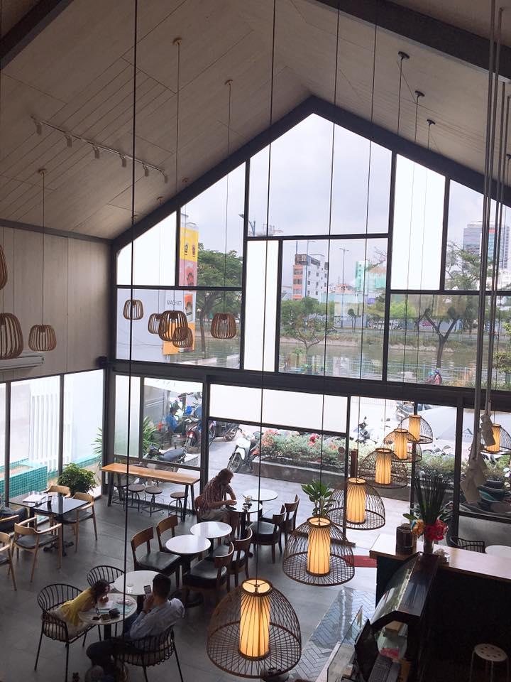 LALA Coffee&Tea - Ốc đảo xanh giữa lòng thành phố thiet ke thi cong quan cafe dep 22