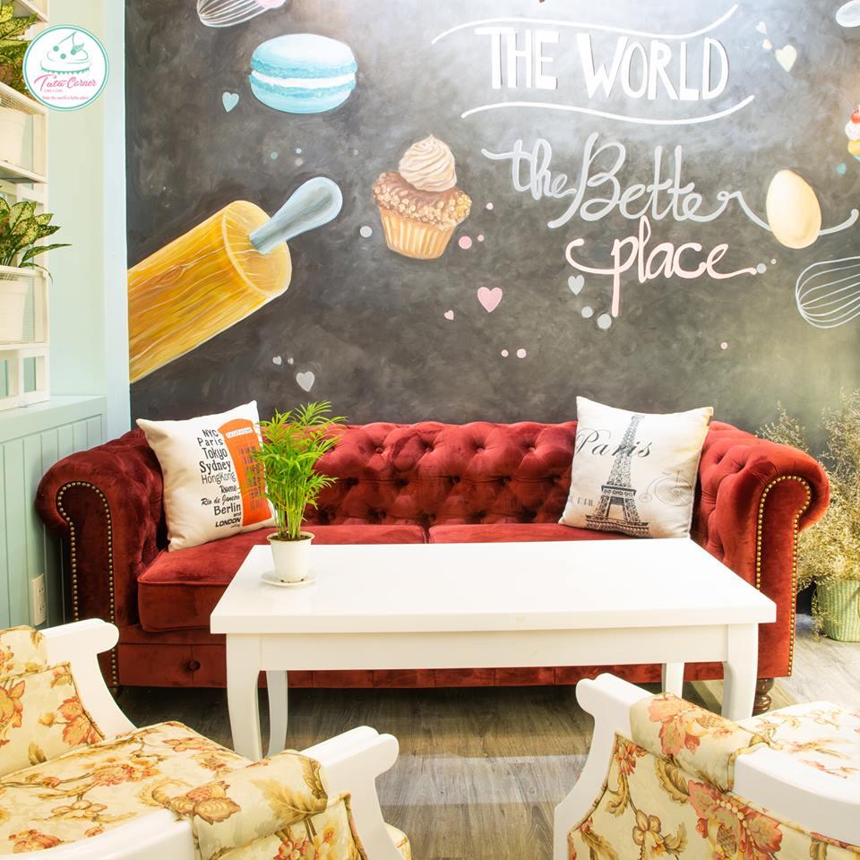 TATA Corner - tiệm cà phê bánh với không gian Pastel siêu cute và ngọt ngào thiet ke tiem cafe banh Tata Bakery 4
