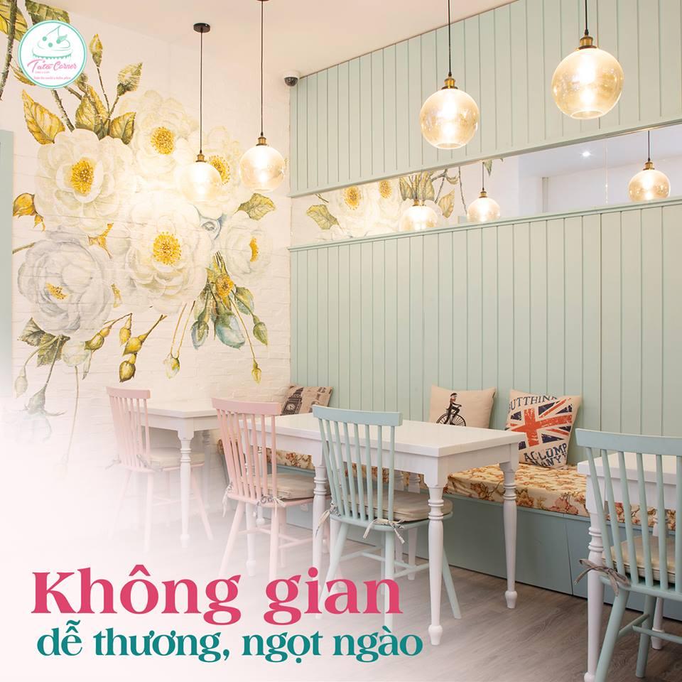 TATA Corner - tiệm cà phê bánh với không gian Pastel siêu cute và ngọt ngào thiet ke tiem cafe banh Tata Bakery 5