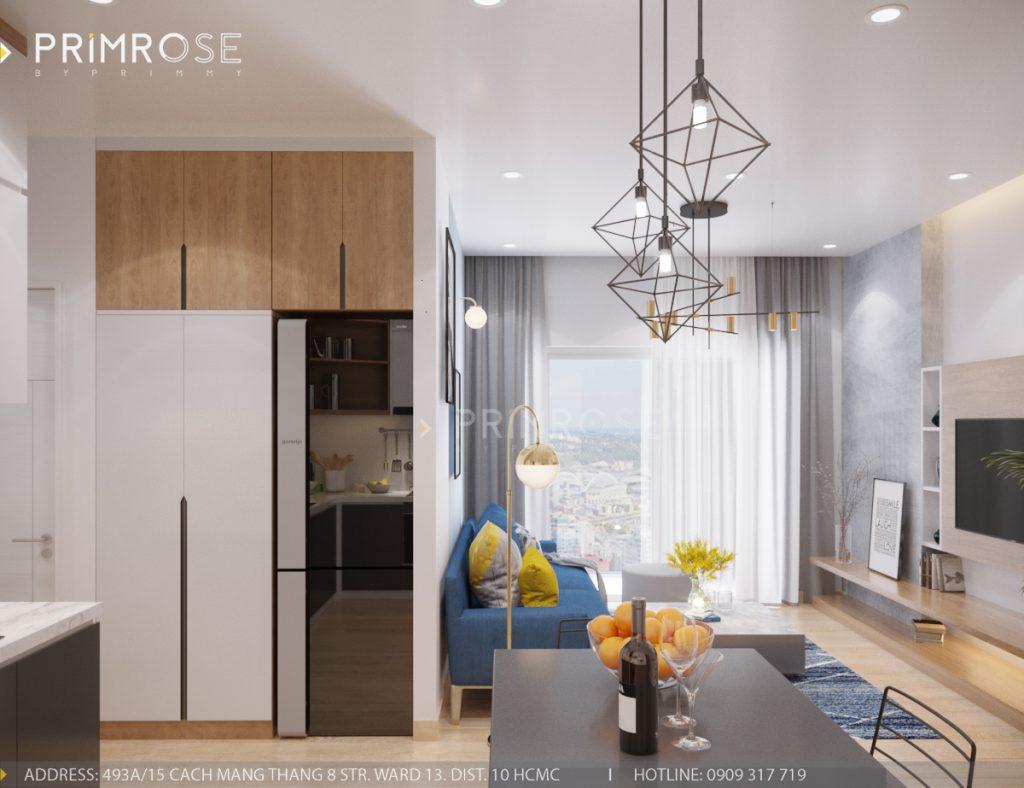 Thiết kế nội thất căn hộ Sunrise Riverside, Quận 7 thiet ke can ho hien dai Sunrise Riverside Quan7 3