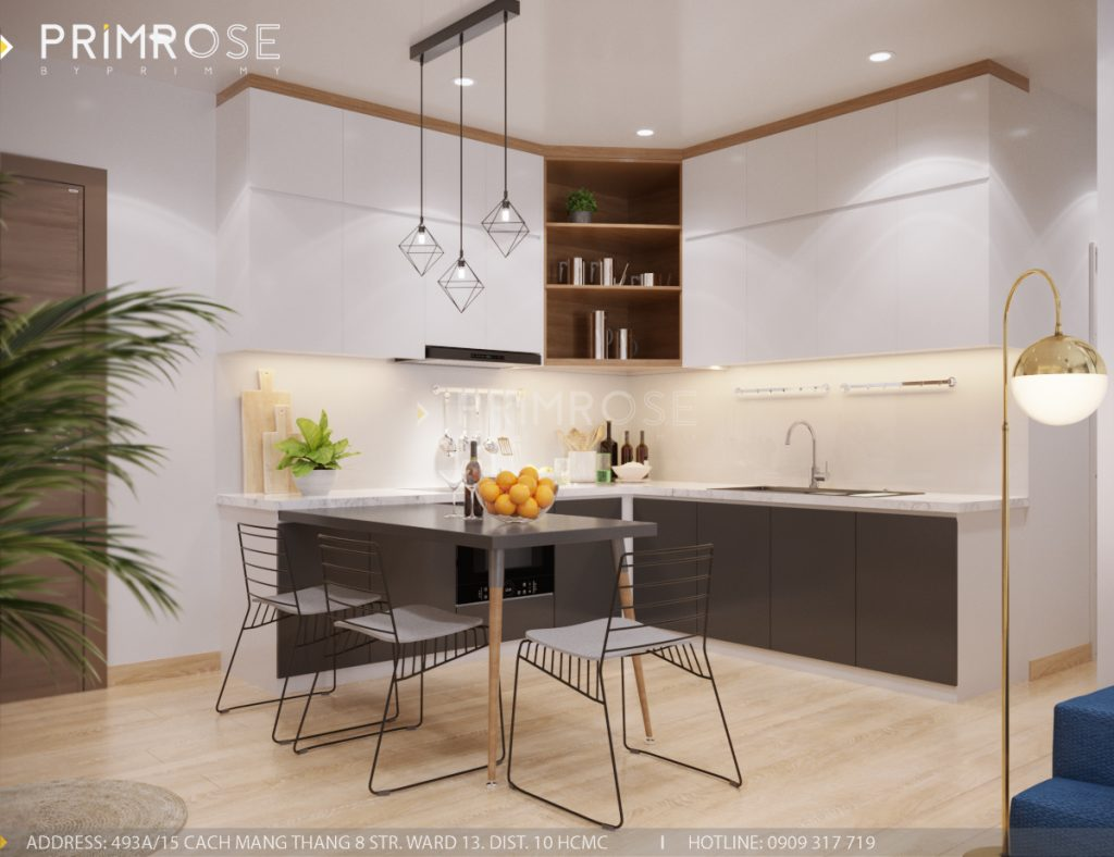 Thiết kế nội thất căn hộ Sunrise Riverside, Quận 7 thiet ke can ho hien dai Sunrise Riverside Quan7 4