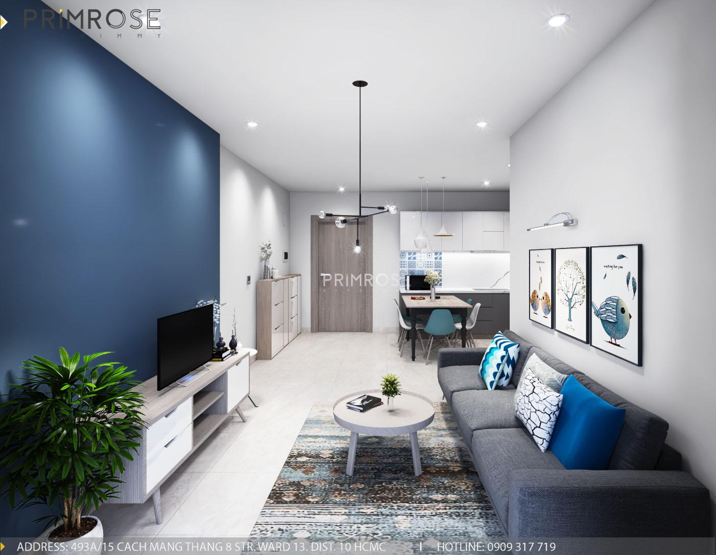 Thiết kế nội thất căn hộ Sunrise Rriverside, Phước Kiểng, Nhà Bè