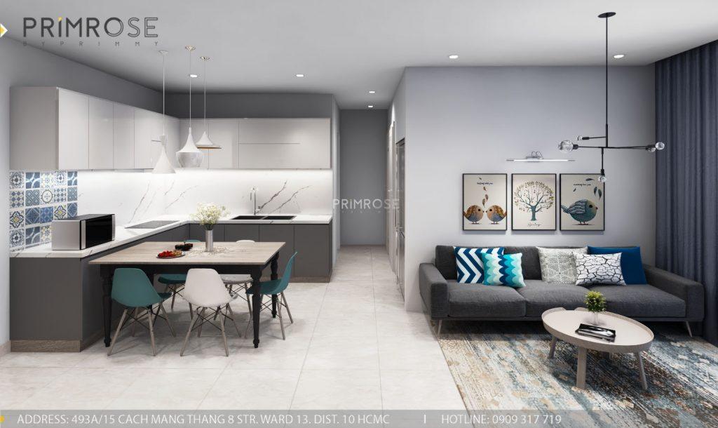 Thiết kế nội thất căn hộ Sunrise Riverside, Phước Kiểng, Nhà Bè thiet ke noi that can ho Sunrise Rriverside Nha Be Phuoc Kieng 4