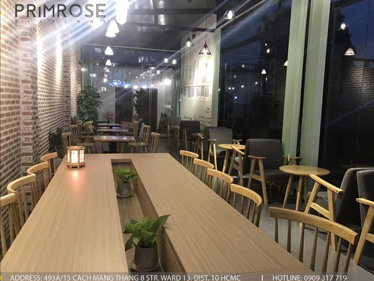 Dự án thi công quán cafe AM thiet ke quan cafe phong cach hien dai 1