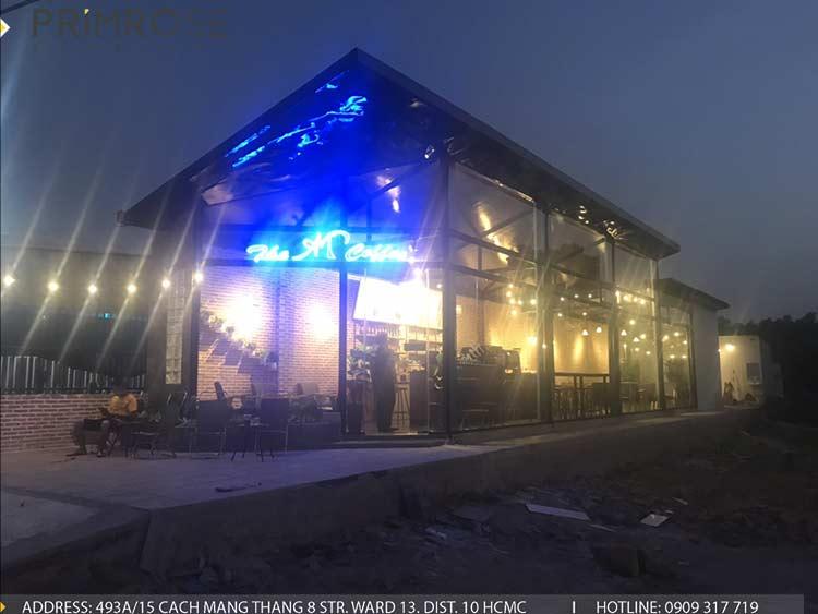 Dự án thi công quán cafe AM thiet ke quan cafe phong cach hien dai 13