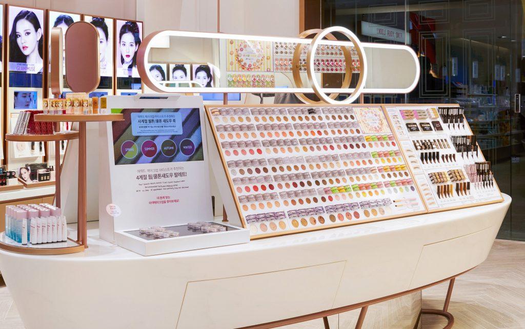 Thiết kế nội thất showroom mỹ phẩm đẹp etdue seoul 01