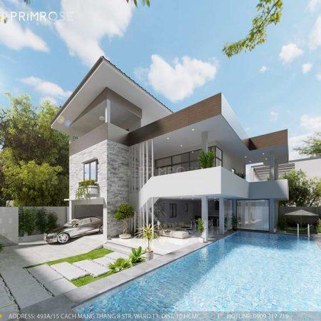 Thiết kế nội thất biệt thự hiện đại tại Thảo Điền, Quận 2, HCM