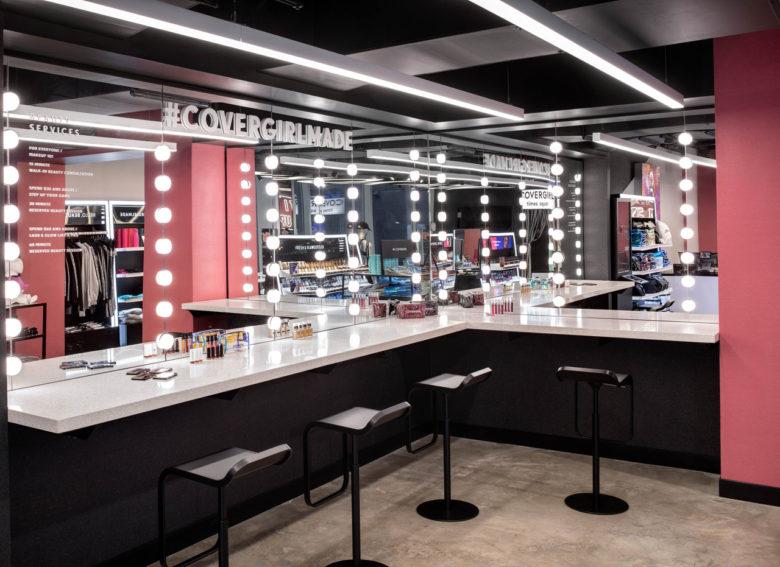 Thiết kế nội thất showroom mỹ phẩm đẹp thiet ke showroom my pham 1