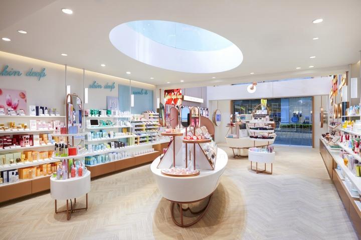 Thiết kế nội thất showroom mỹ phẩm đẹp thiet ke showroom my pham 5