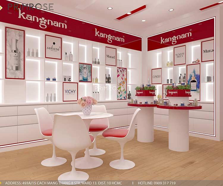 Tạo sự khác biệt trong thiết kế nội thất showroom mỹ phẩm Kang Nam - Tân Bình, HCM thiet ke showroom my pham Kang Nam 4