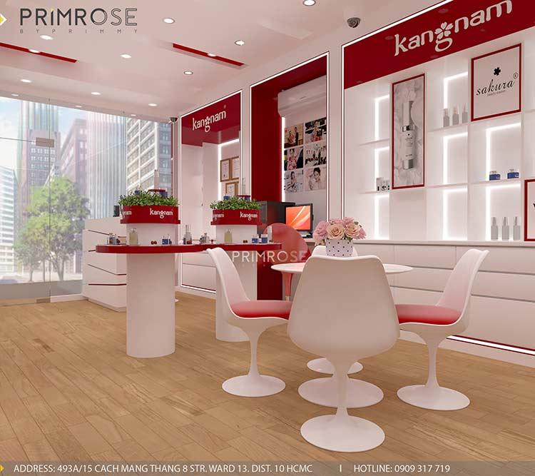 Tạo sự khác biệt trong thiết kế nội thất showroom mỹ phẩm Kang Nam - Tân Bình, HCM thiet ke showroom my pham Kang Nam 5